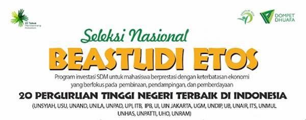Program Beastudi ETOS dan Dompet Dhuafa